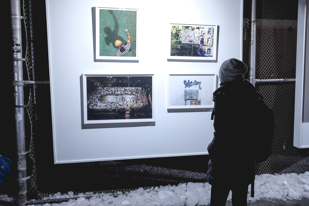 Visitors braved the frigid NYC temperatures during NBA All-Star Weekend to view my portion of the Raised Gallery.