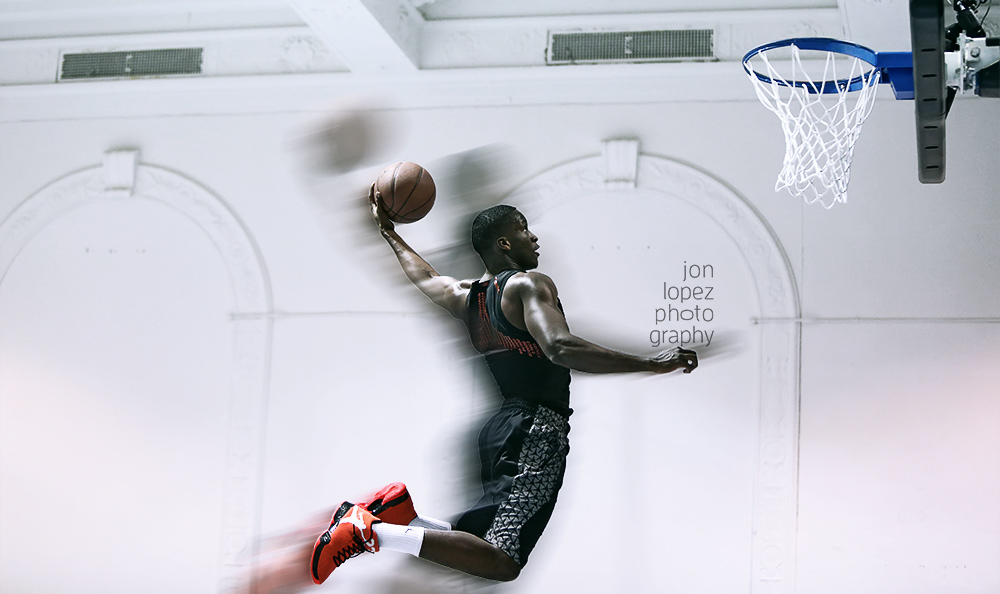I photographed Orlando Magic guard Victor Oladipo practicing for the 2015 dunk contest during All-Star Weekend NYC.