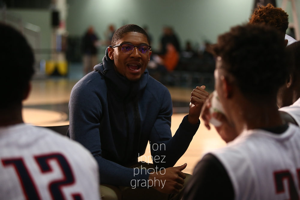 Bradley Beal of the Washington Wizards encourages his former EYBL squad, the St. Louis Eagles.
