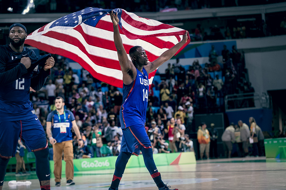 Draymond Green of the Golden State Warriors represented Team USA in Rio during the Olympics.