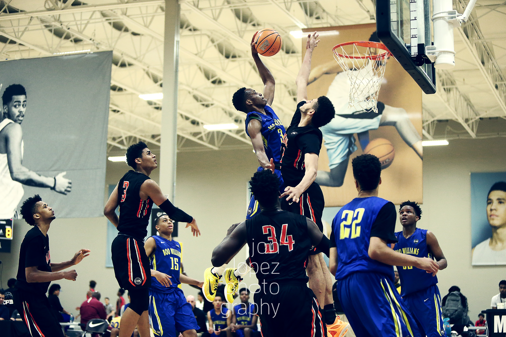 Matt Coleman of Boo Williams put this defender on the wrong side of poster during the EYBL's stop in Indiana.