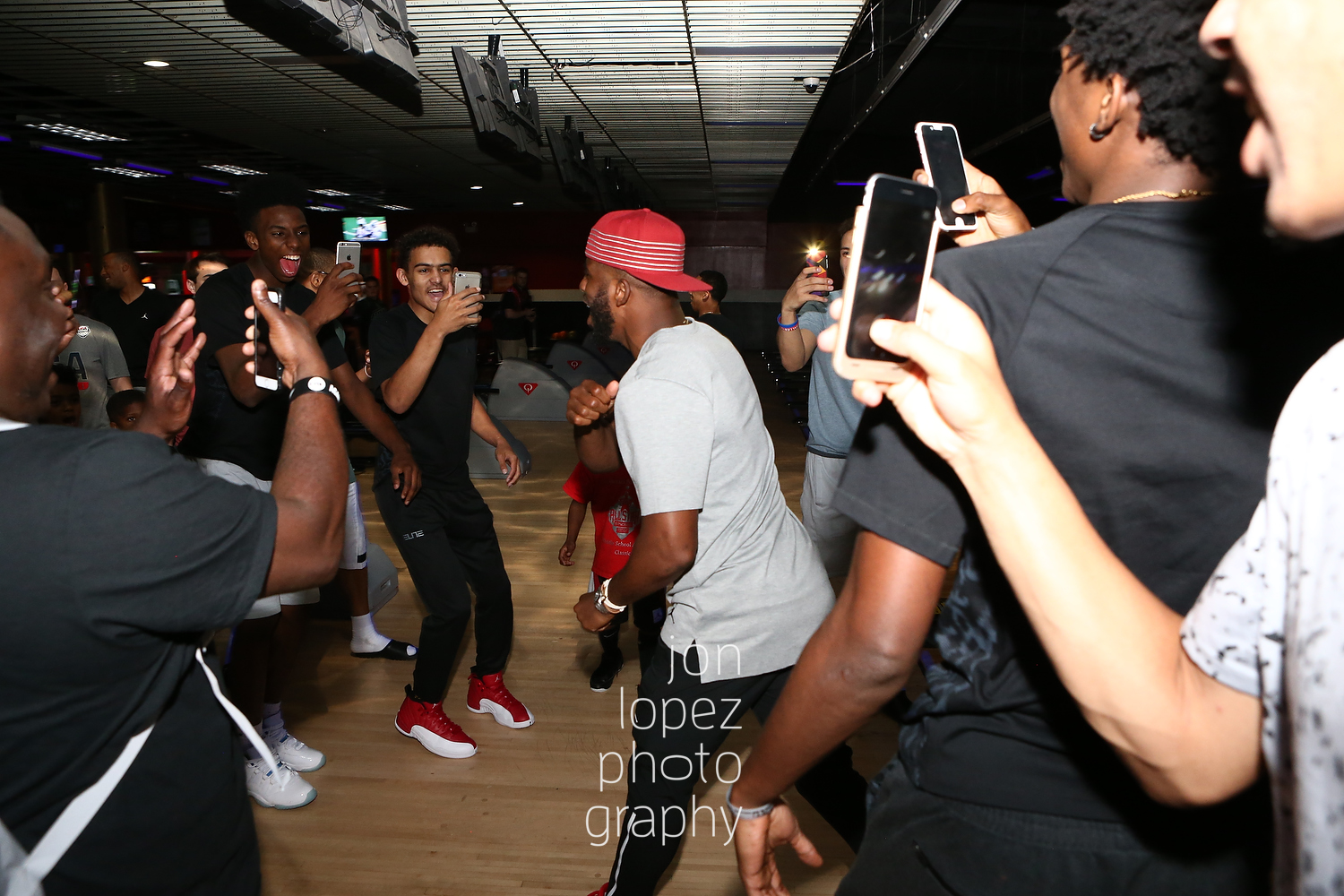 With his final turn Chris Paul snatches the lead and wins the bowling competition among the top point guards in the country—all documenting the historic come back victory on their smartphones—invited to his skills academy in Winston-Salem, NC.