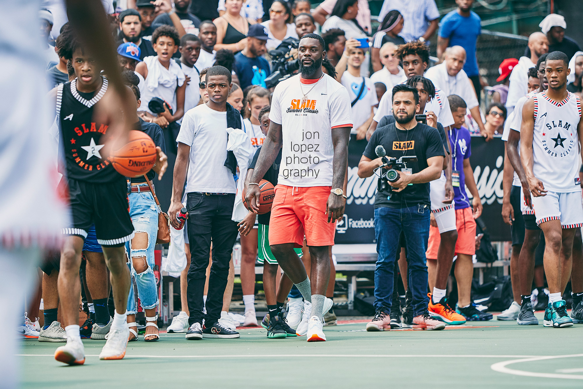 Los Angeles Lakers forward and Brooklyn native Lance Stephenson coached one of the teams at the  SLAM Summer Classic  at Monsignor Kett Playground in the summer of 2018.