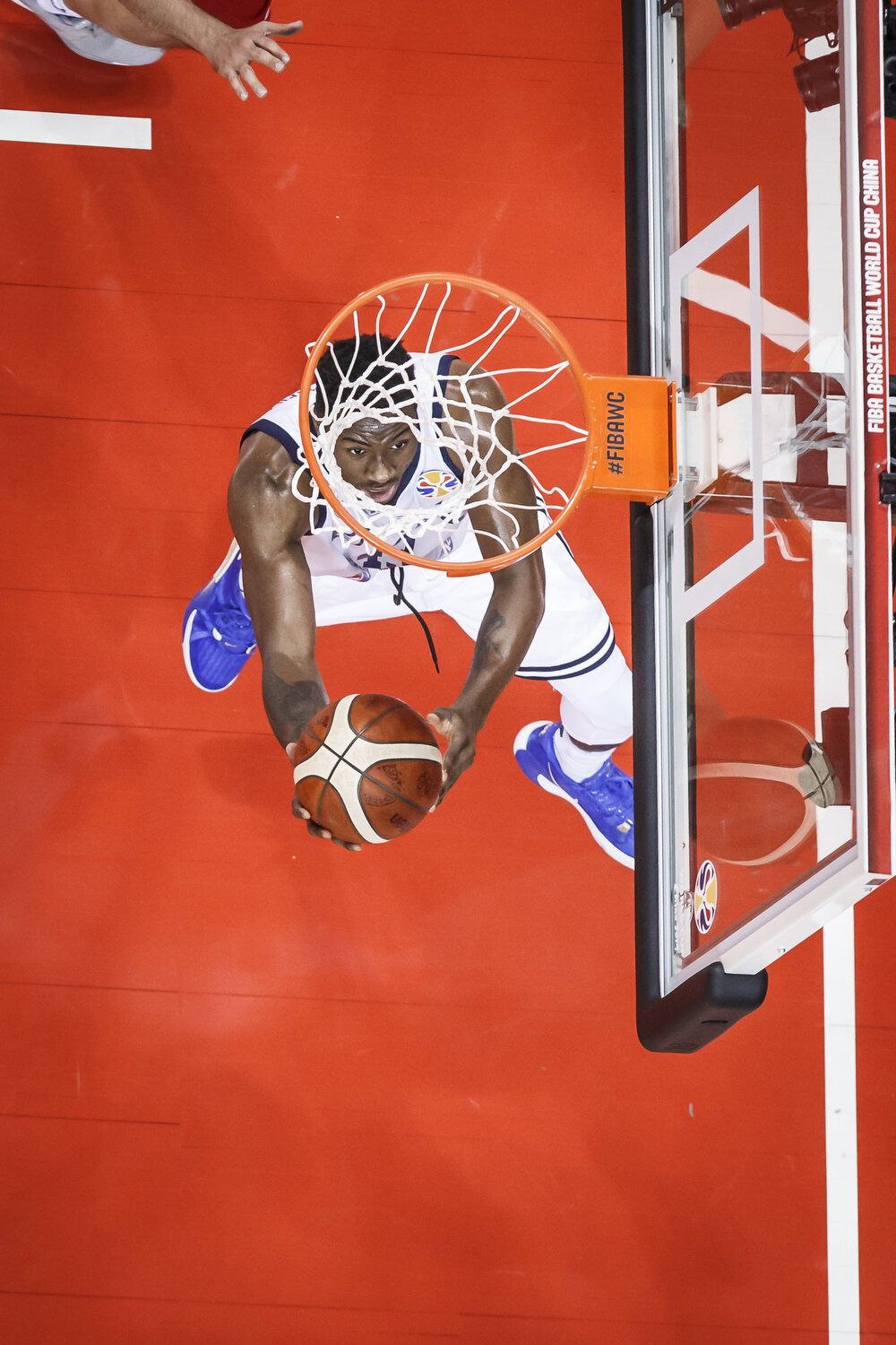 Thanasis Antetokounmpo of Greece attempts a reverse layup during the first round of the FIBA Basketball World Cup. All rights reserved (Mandatory photo credit: Jon Lopez / FIBA )