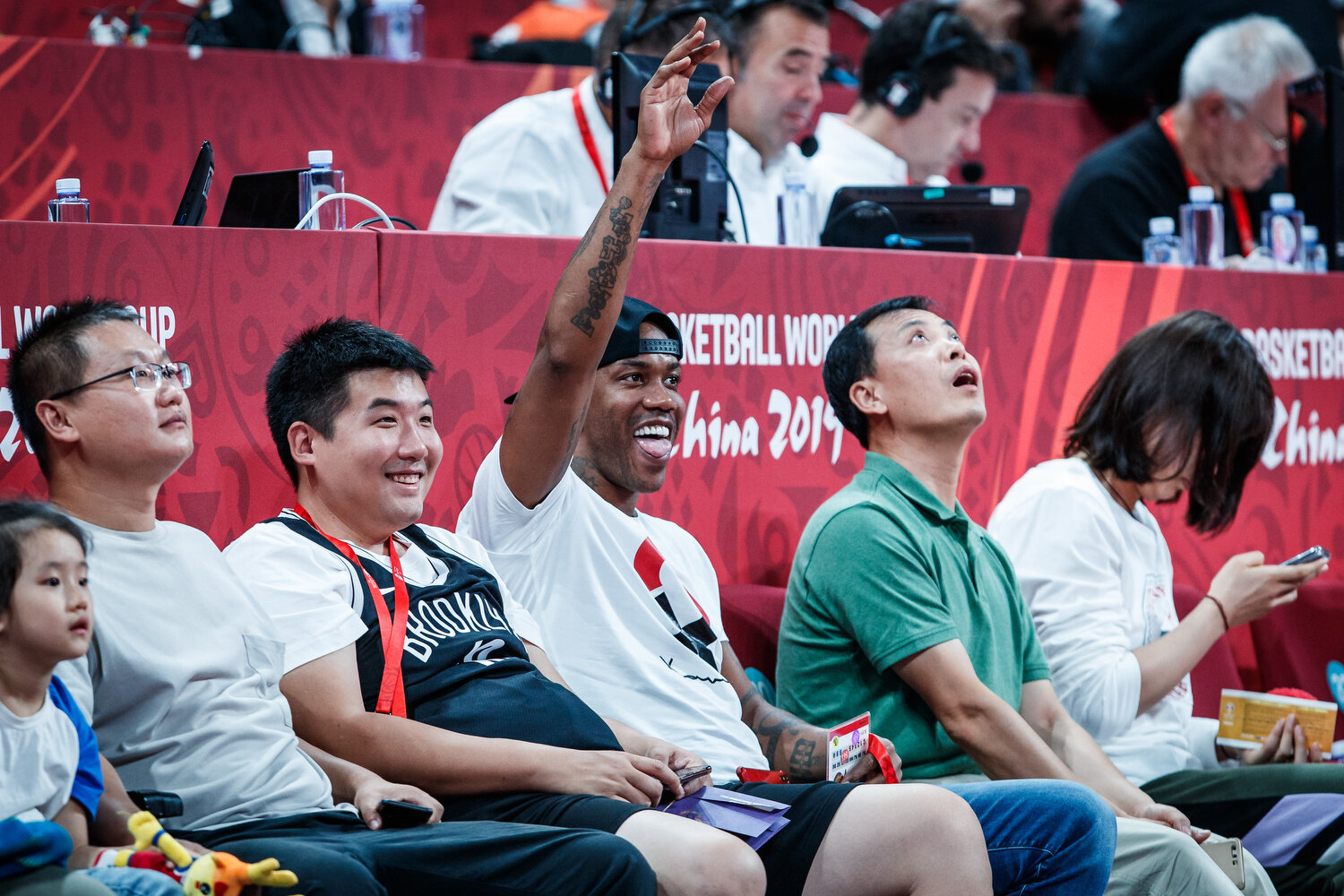 Stephon Marbury, legendary point guard from Coney Island Brooklyn, NY enjoys the games courtside during the FIBA Basketball World Cup. All rights reserved (Mandatory photo credit: Jon Lopez / FIBA )