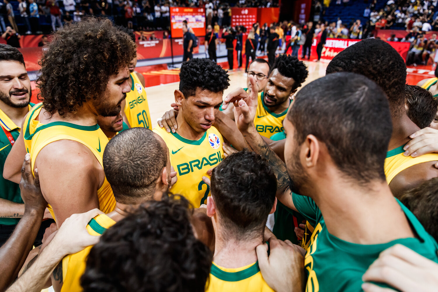 Brazil displayed an amazing culture within the team as they cheered for Louzada who was disappointed about an ill-advised foul he committed that gave Greece a chance to win the game. It's moments like these that continue to reinforce why I love this game. All rights reserved (Mandatory photo credit: Jon Lopez / FIBA )