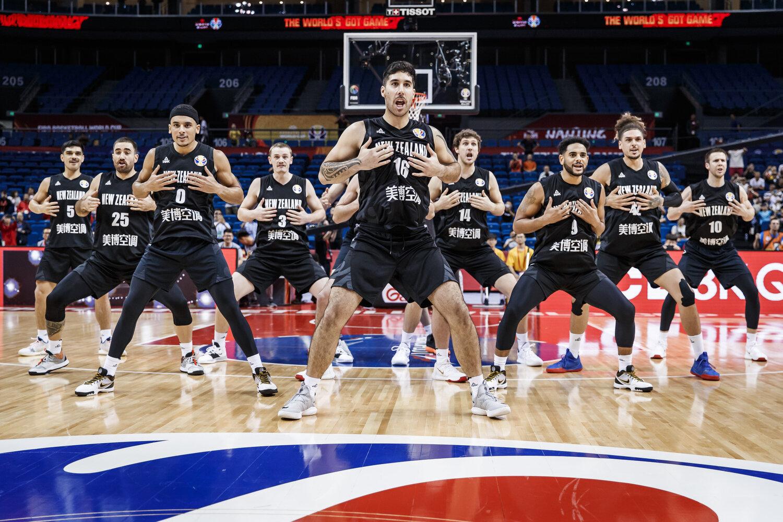 New Zealand pregame Haka. All rights reserved (Mandatory photo credit: Jon Lopez / FIBA )
