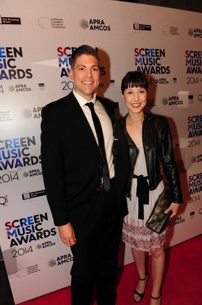 De Groot at the 2014 APRA Screen Music Awards