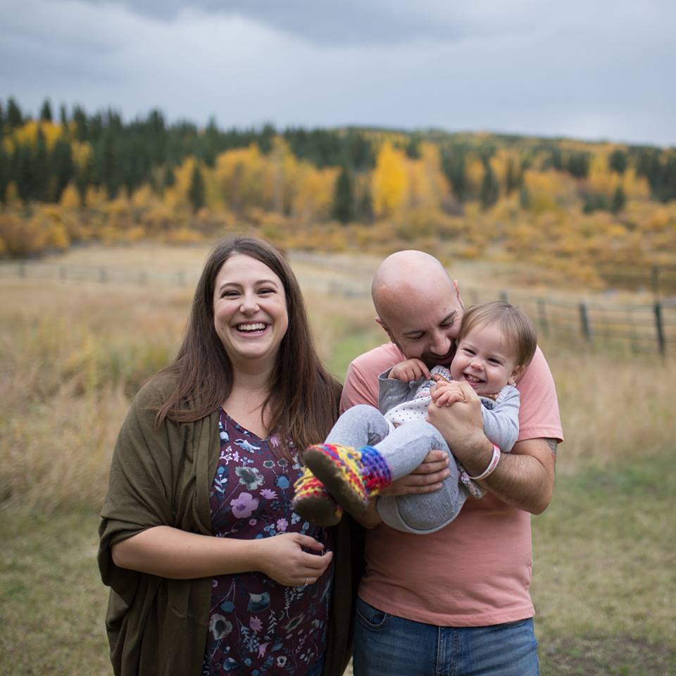 Christine, Peter, and Hazel Jennings, October 2018. Photo Credit  Bethany Galster