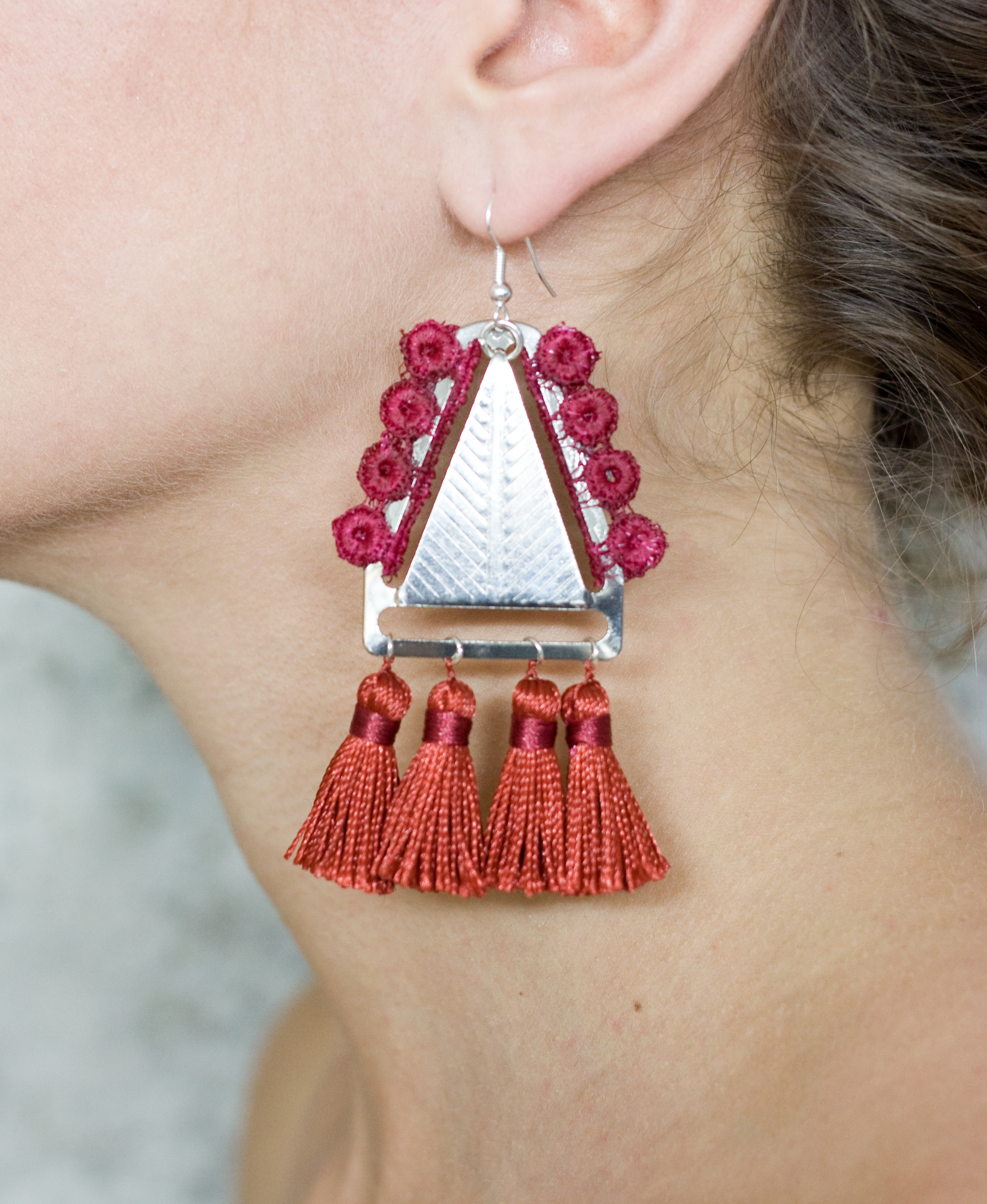 Tapestry earrings (details here)
