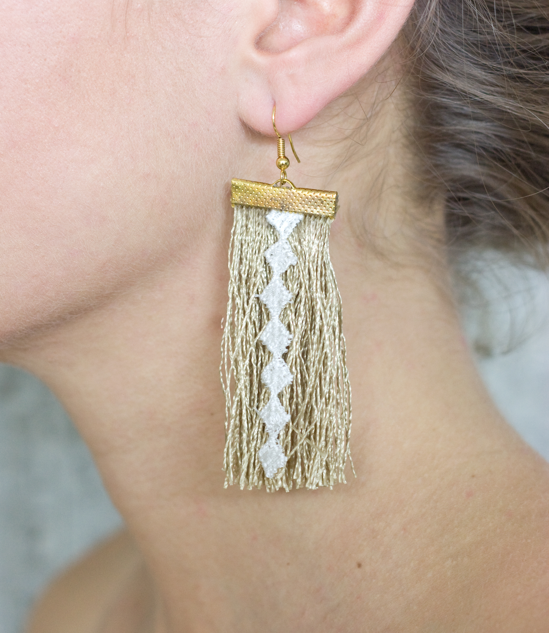 Thatching earrings (SOLD OUT)