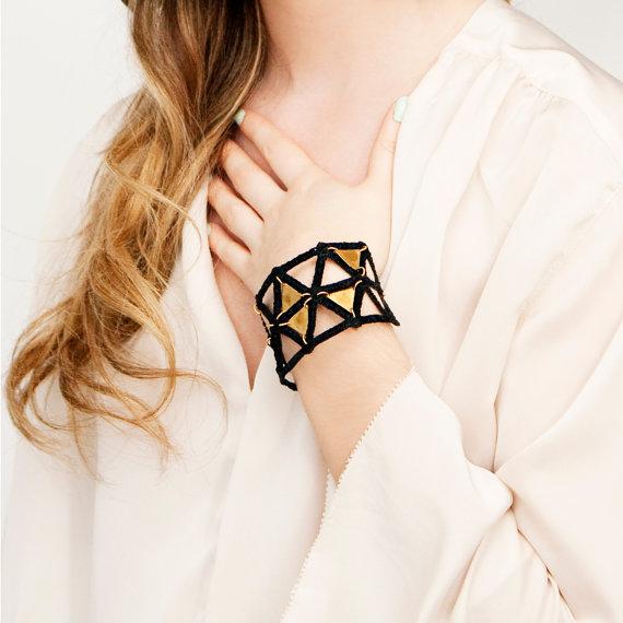 Geoplate bracelet