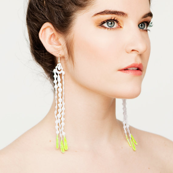 Seagrass earrings