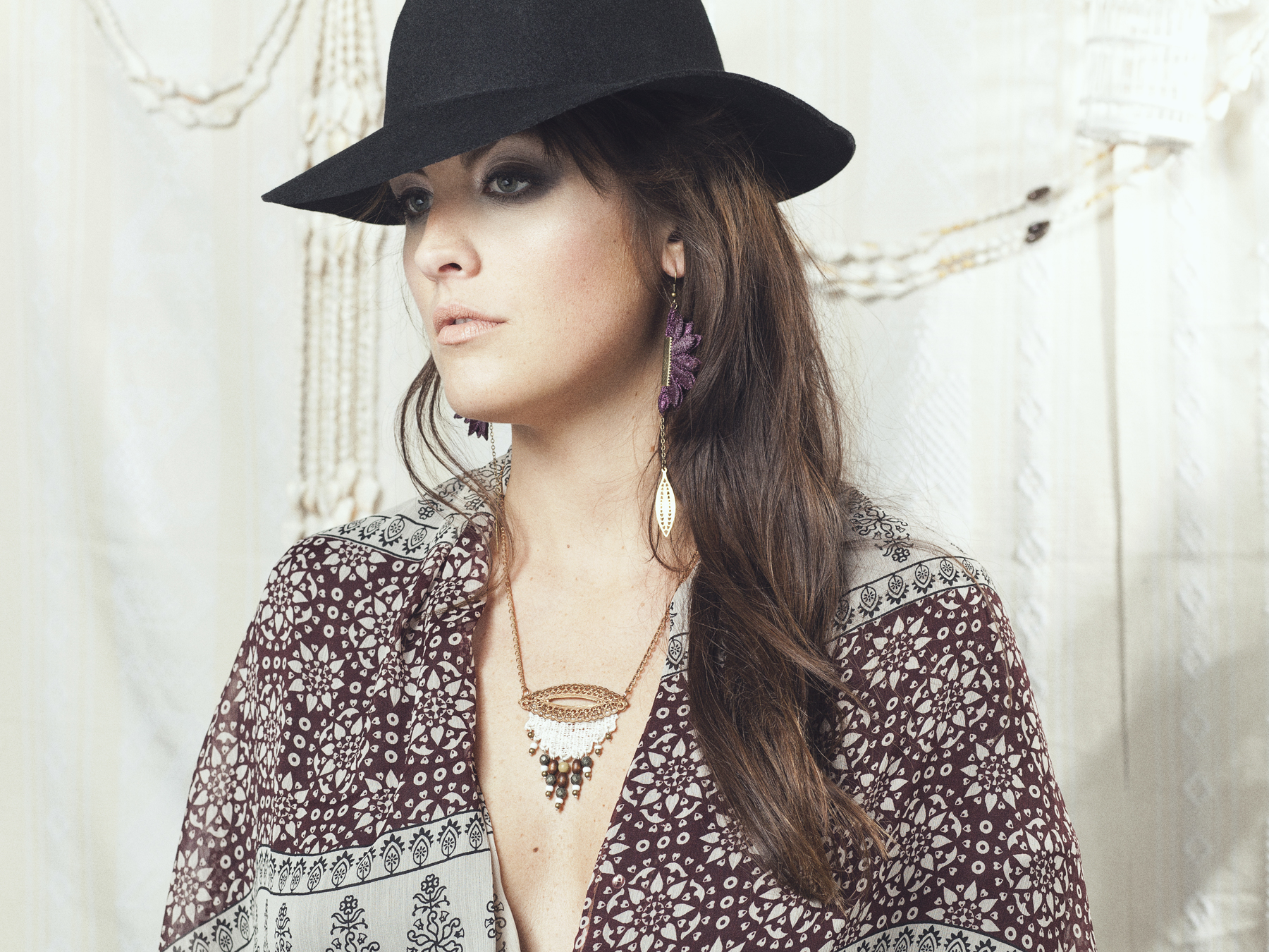 Pendulum earrings (details here) +  Hamsa necklace (details here)