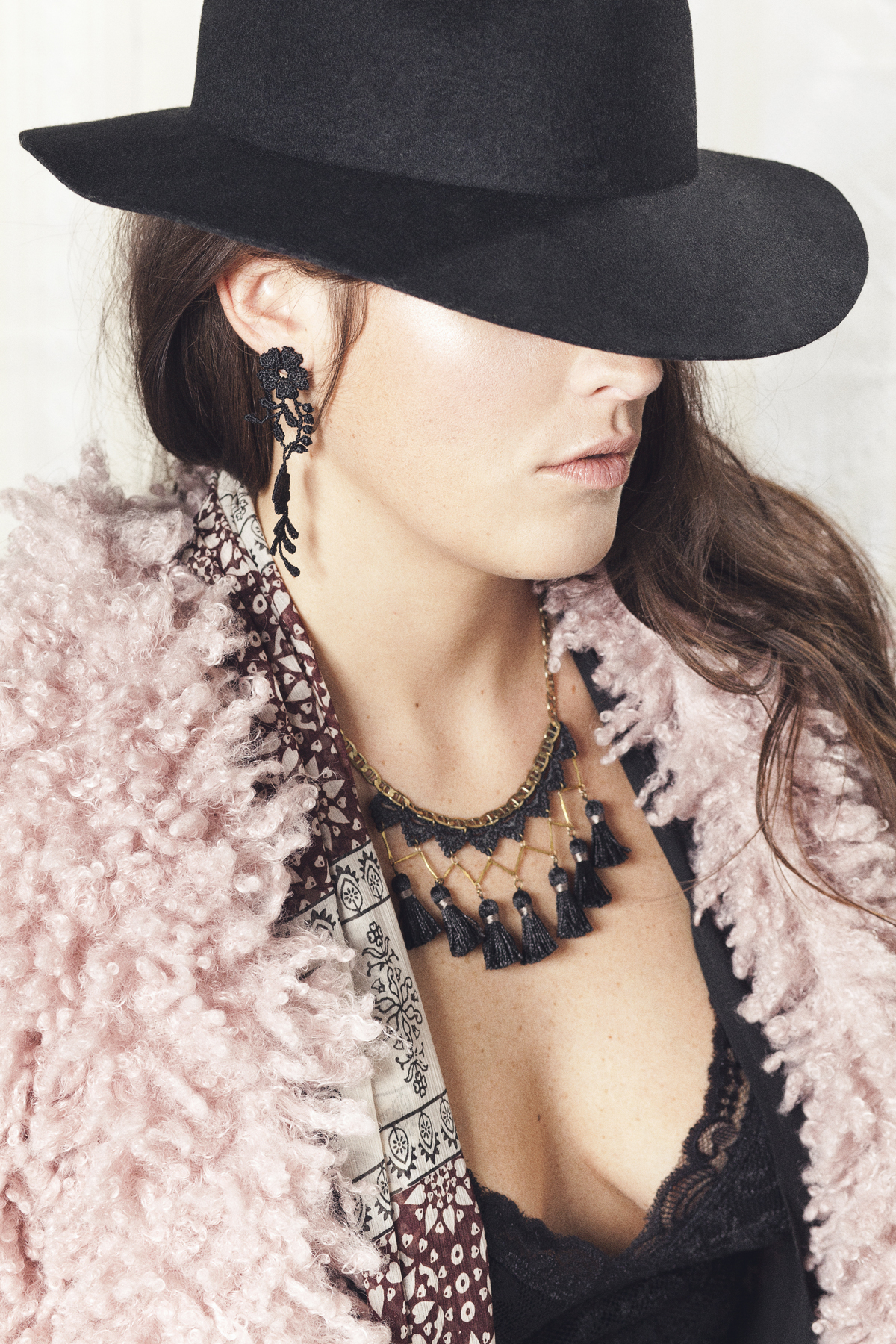 Hollyhock earrings (details here) +  Marrakech necklace (details here  )