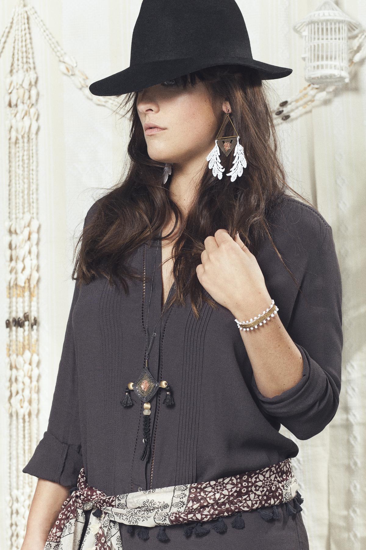 Credo earrings (details here) +  Ojo de Dio necklace (details here ) +  Tao bracelet (details here)