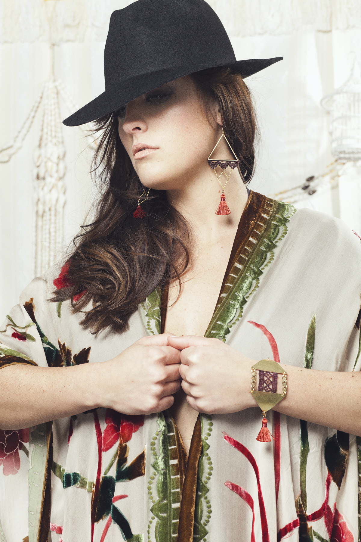 Marrakech earrings (details here) + Cairo bracelet (SOLD OUT)
