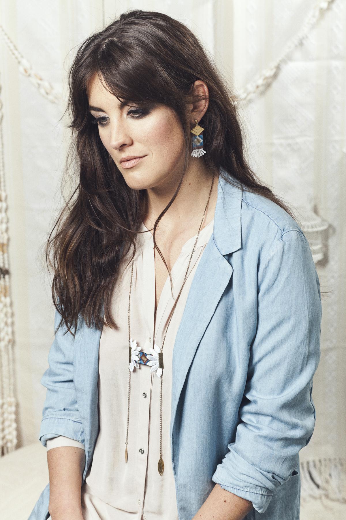 Oaxaca earrings (details here) +  Pendulum necklace (details here)