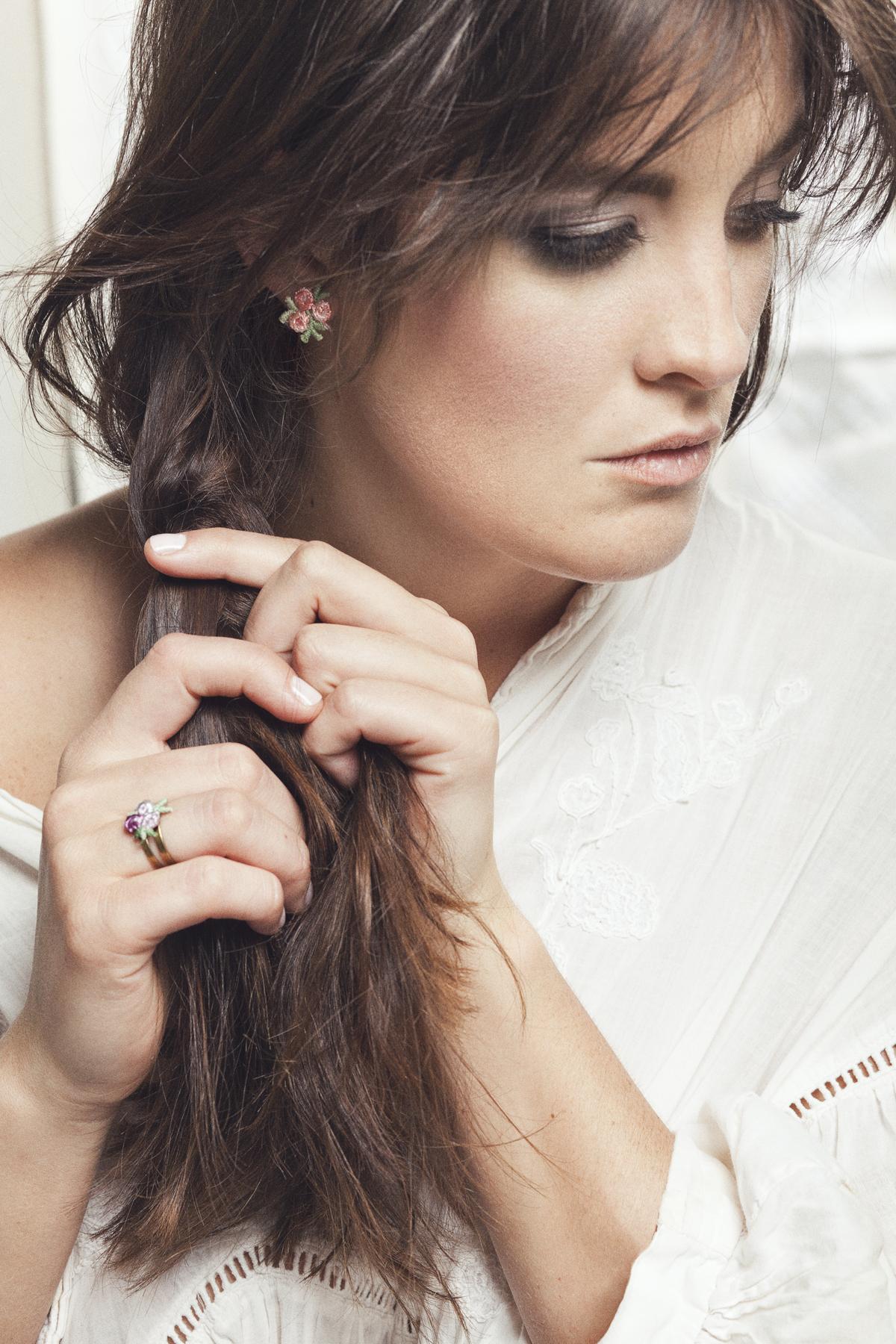 Flowerchild earrings (details here) +  Flowerchild ring (details here)