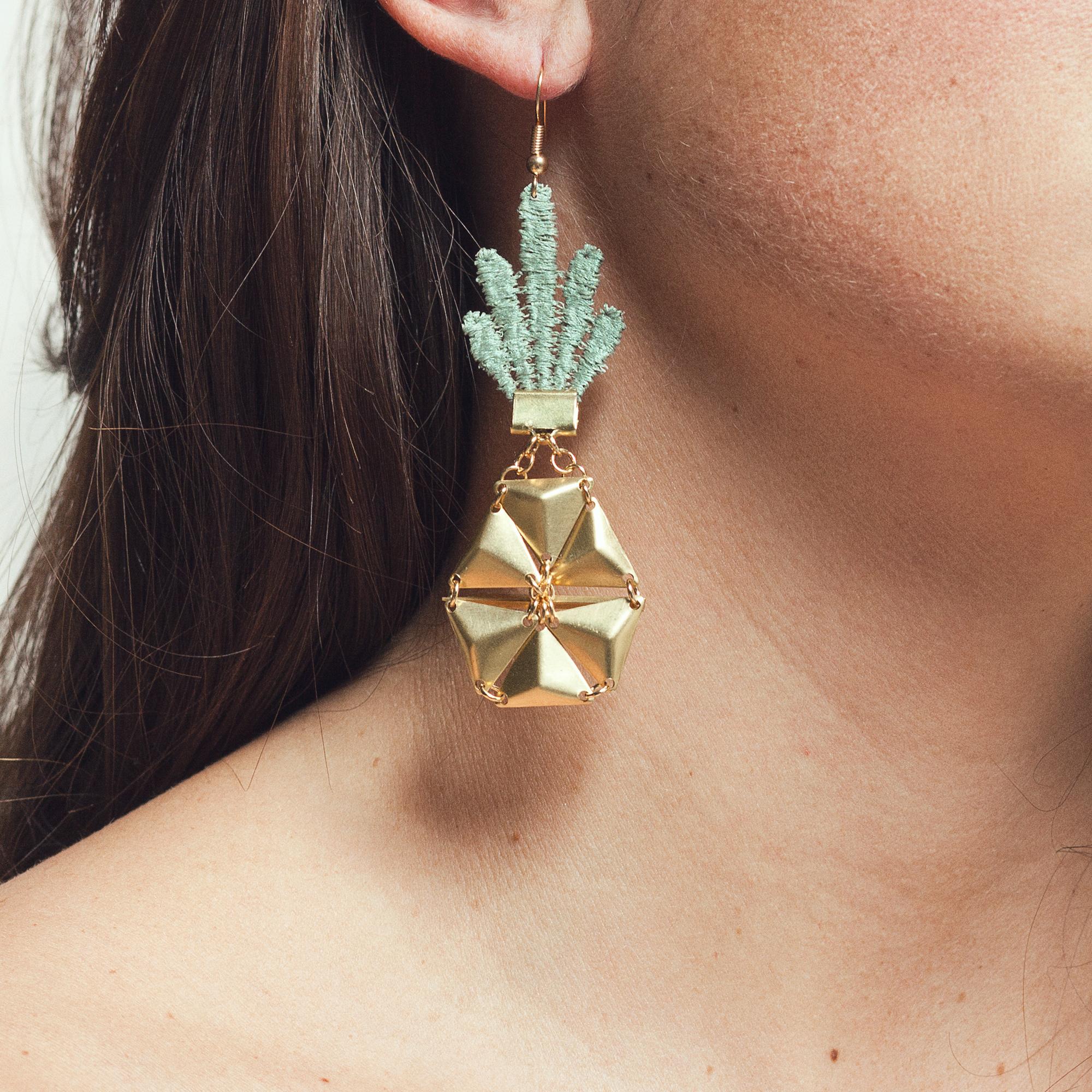 Pineapple earrings (details here)