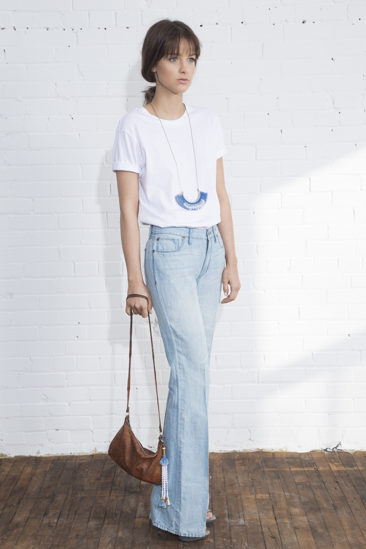 Hula necklace (details here)  +  Banjara bag accessory (details here)