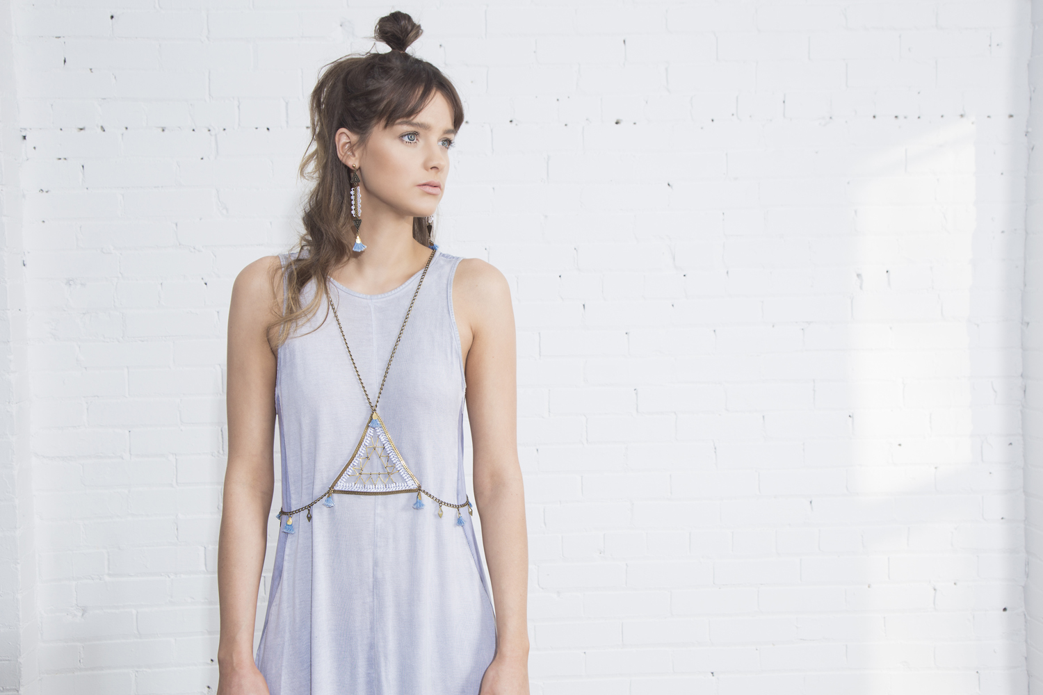 Heyday body harness (details here)  +  Zenith earrings (details here)