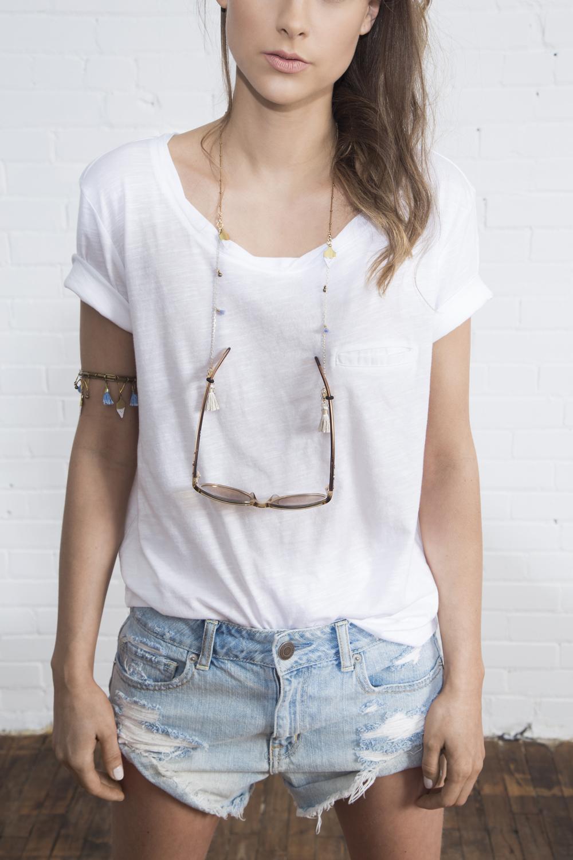 Osheaga glasses chain (details here)  +  Endless Summer armlet/anklet(details here)