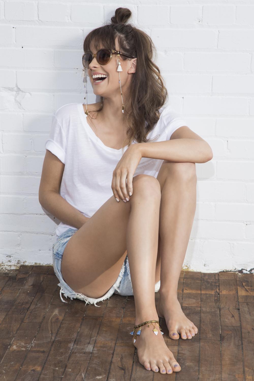 Osheaga glasses chain (details here)  +  Endless Summer anklet/armlet (details here)