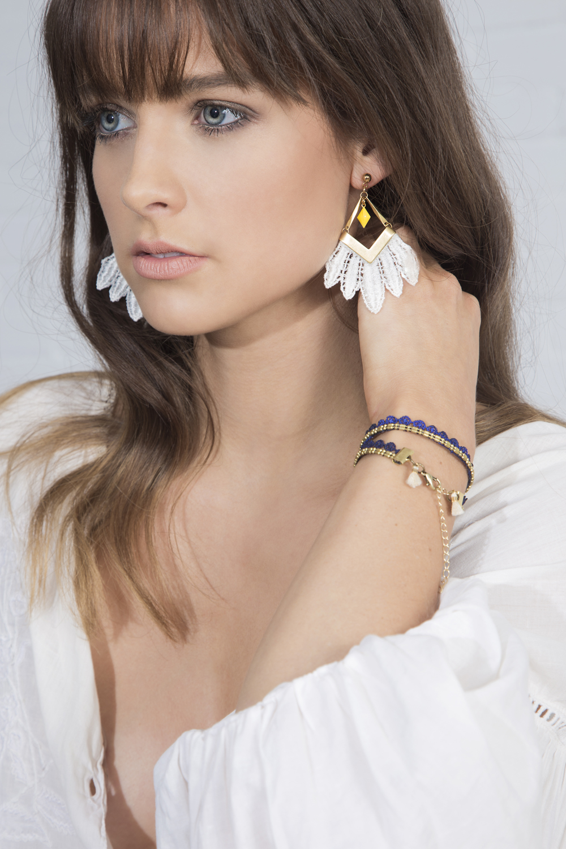 Free Spirit earrings (details here)  +  Dew bracelet/choker (details here)