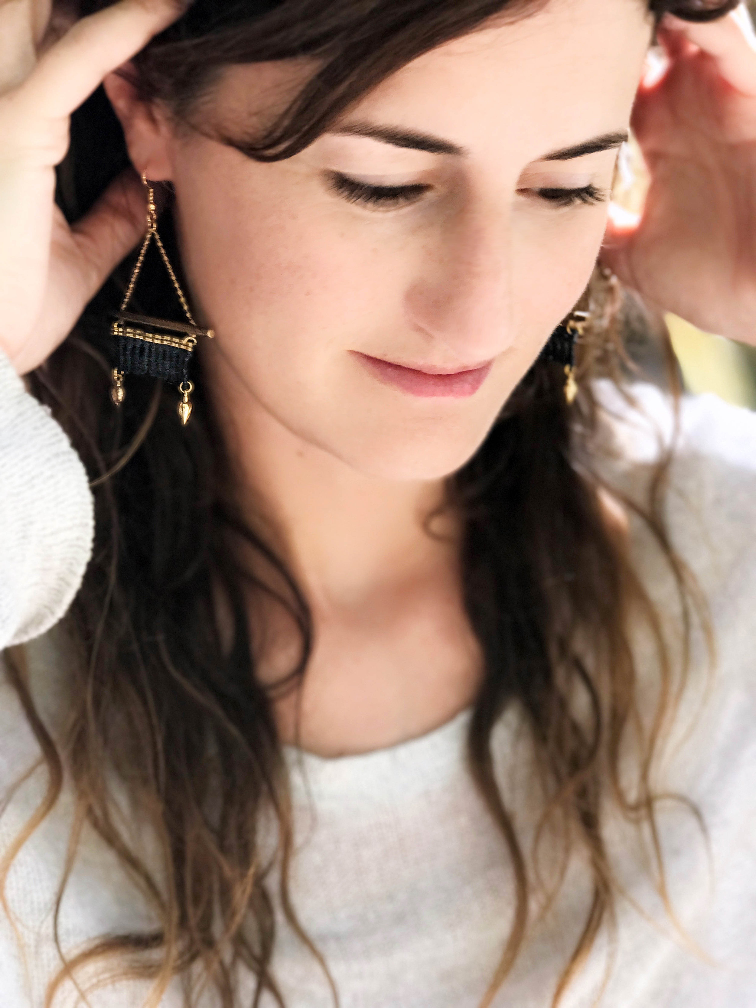 Kabak earrings  (click here for details)