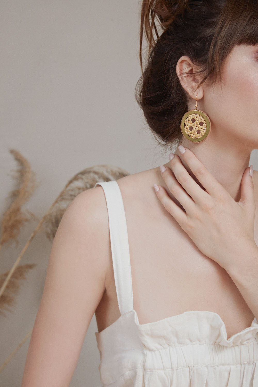 Rotan Medallion earrings (click here for details)