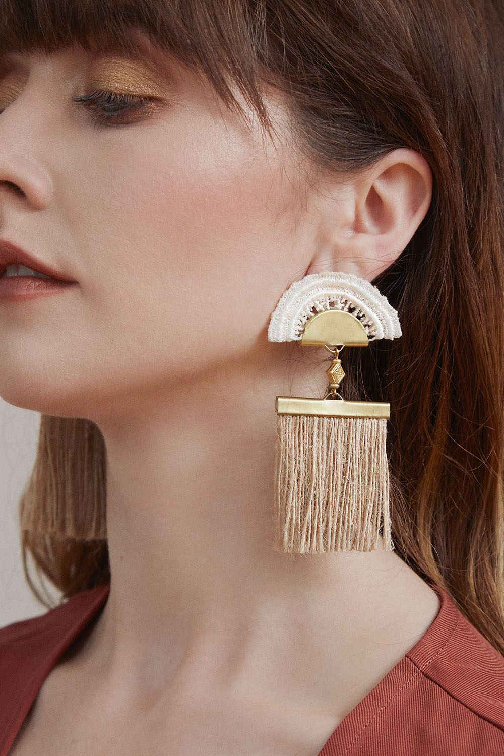 Grasslands earrings (click here for details)