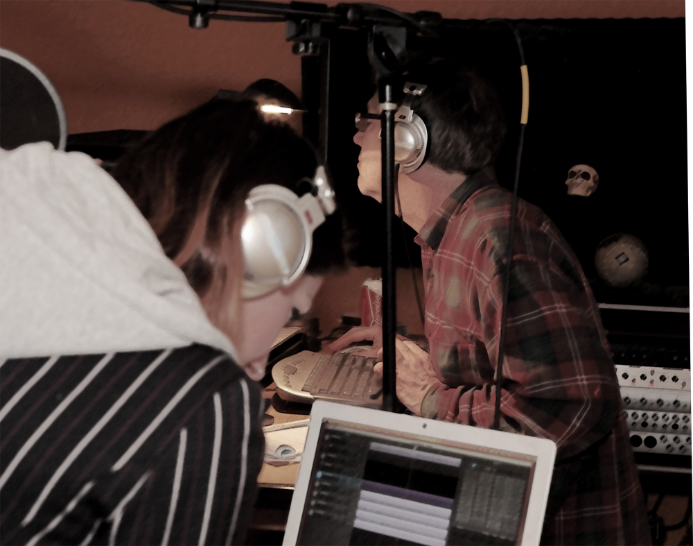Recording BG vocals with Molly Foote