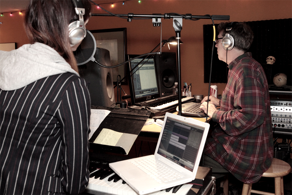 Recording vocals with Molly Foote