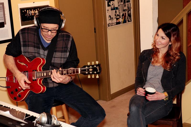 Dan Balmer on guitar