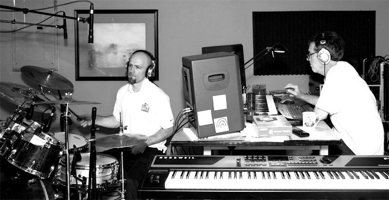 Reinhardt Melz on drums at Amherst