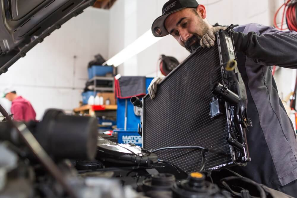Replace air cabin filter in a BMW.
