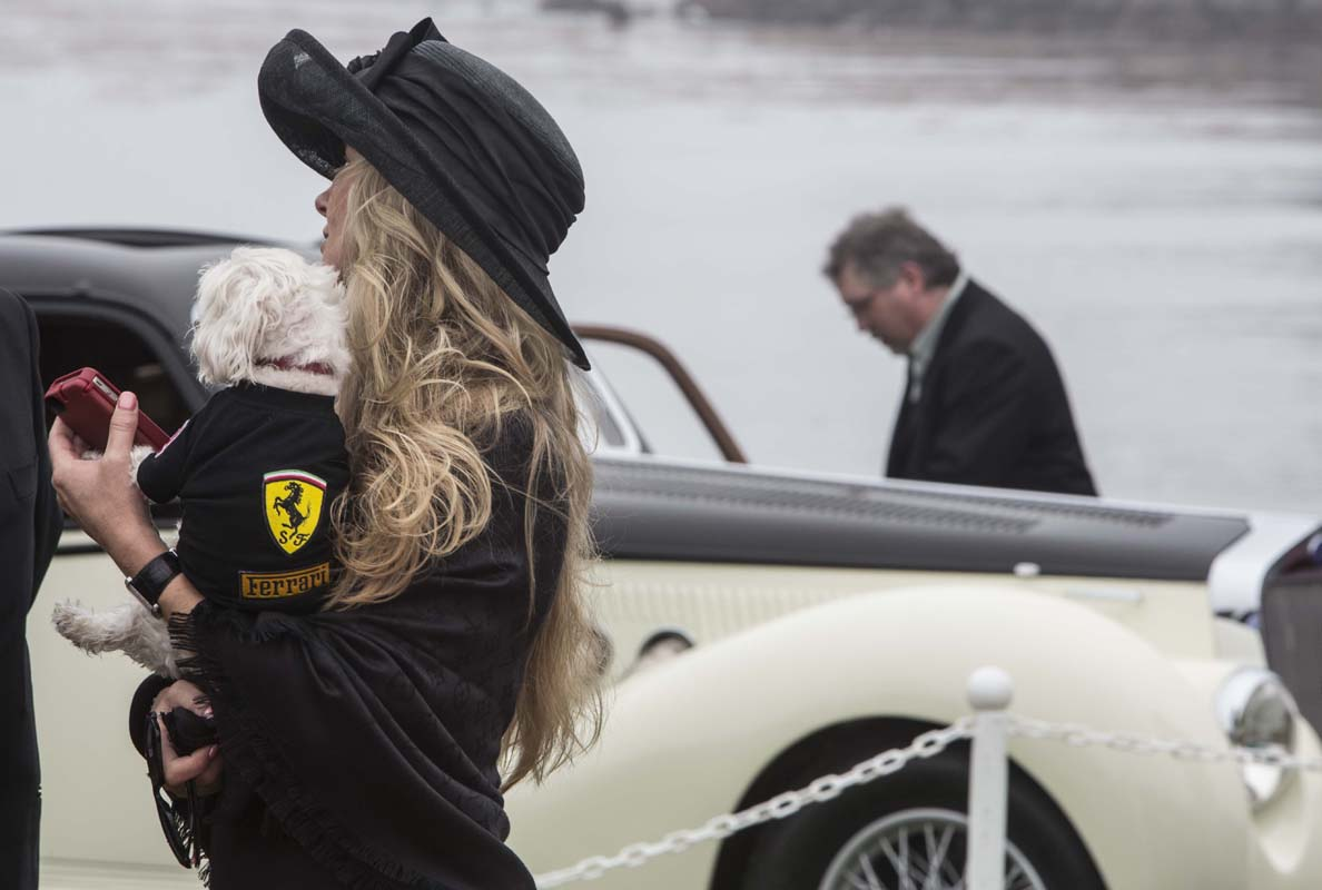 Con el emblema de Ferrari. Foto: Erika Blanco