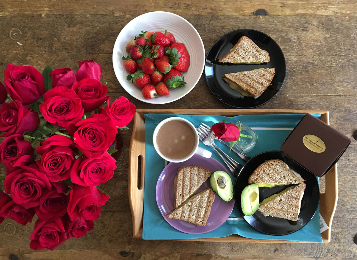 Desayuno de San Valentín para 3 (por ahora...)