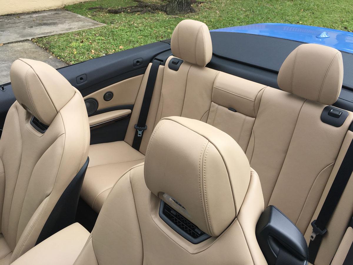 Buen gusto en la tapicería del BMW M4 Convertible