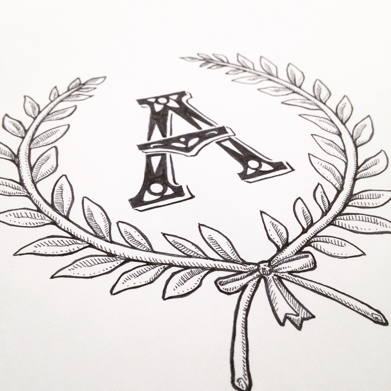 A in a Wreath