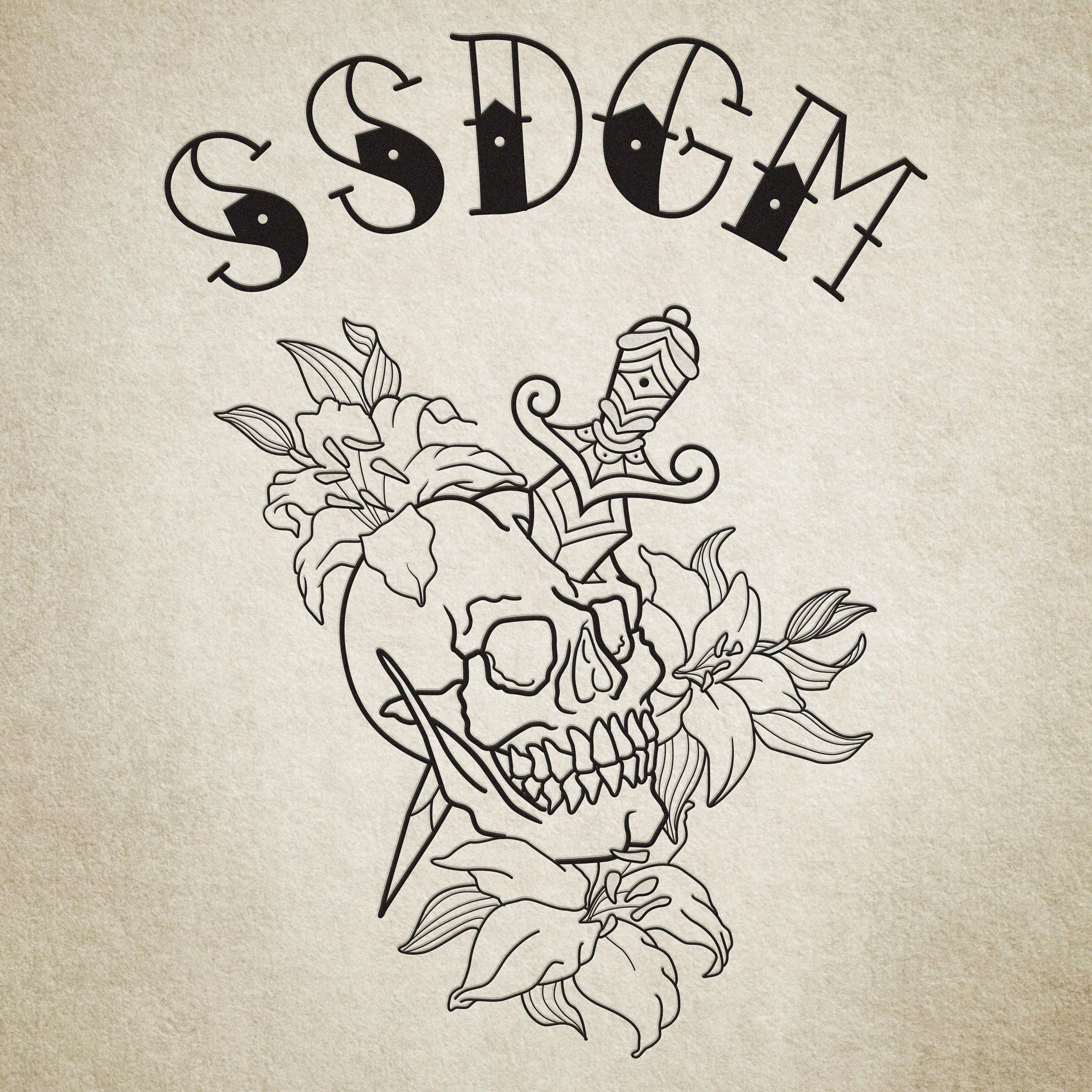 SSDGM Lettering & Skull