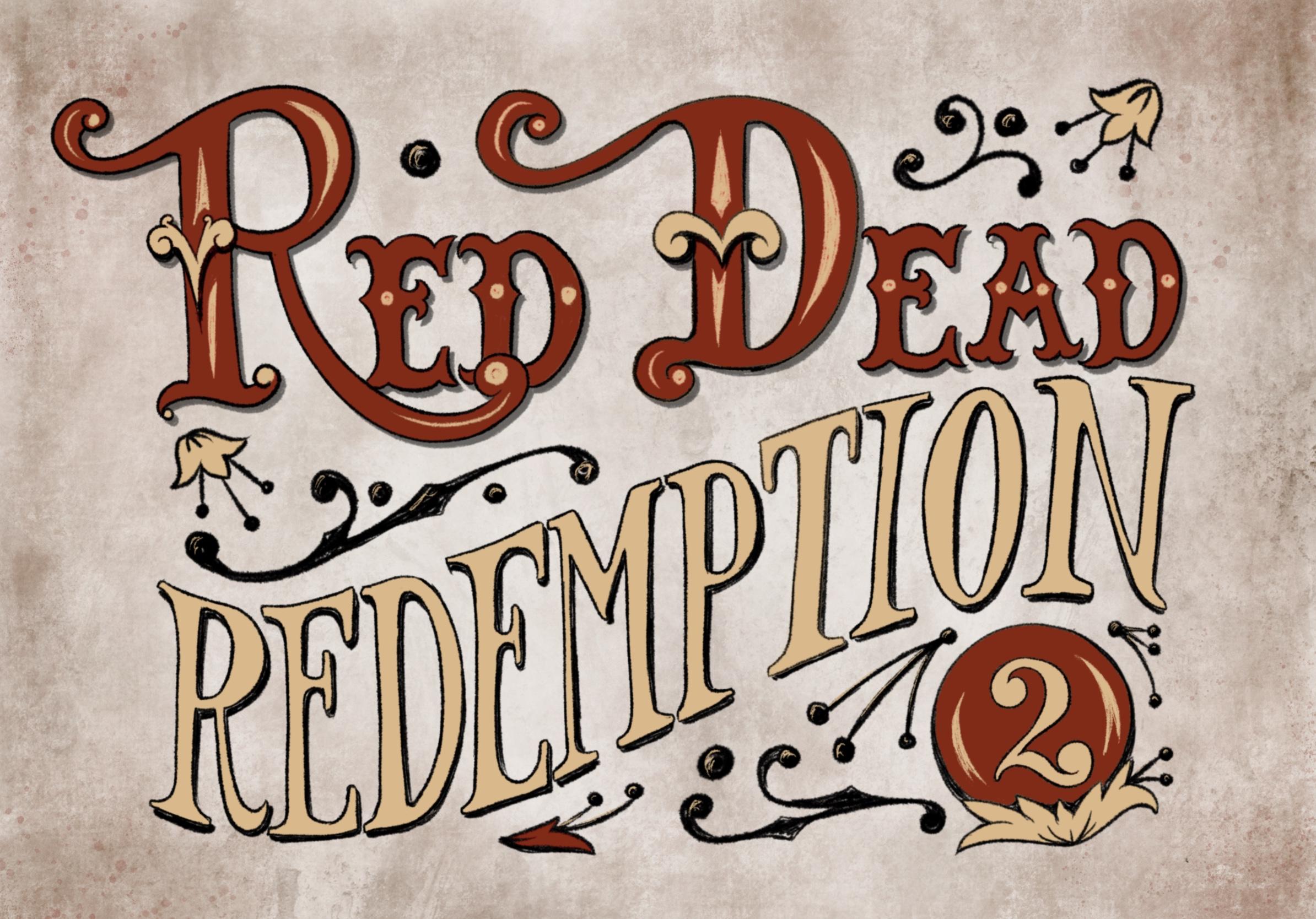 Red Dead Redemption 2 Handlettering