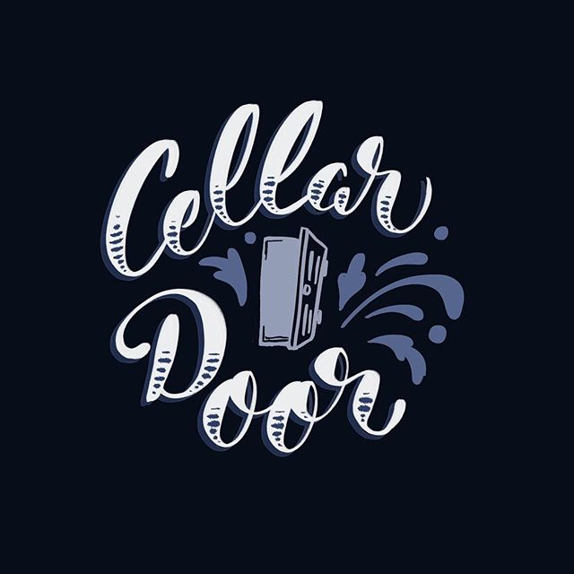 "I wanted to do a quick fun doodle tonight, but didn't know what to letter. So I turn to my hubby, and after a very snarky first response, he says ""cellar door"". I'm sure many of you have heard before via the wisdom of the inter webs that this phrase is considered the most beautiful phrase in the English language. So I figured, why not letter it? What do YOU think is the most beautiful word/phrase in the English language? . . . . . #typematters  #goodtype #strengthinletters #cellardoor #type #lettering #art #doodle #artistsoninstagram #50wordsongrey #typography #handlettering #calligritype"