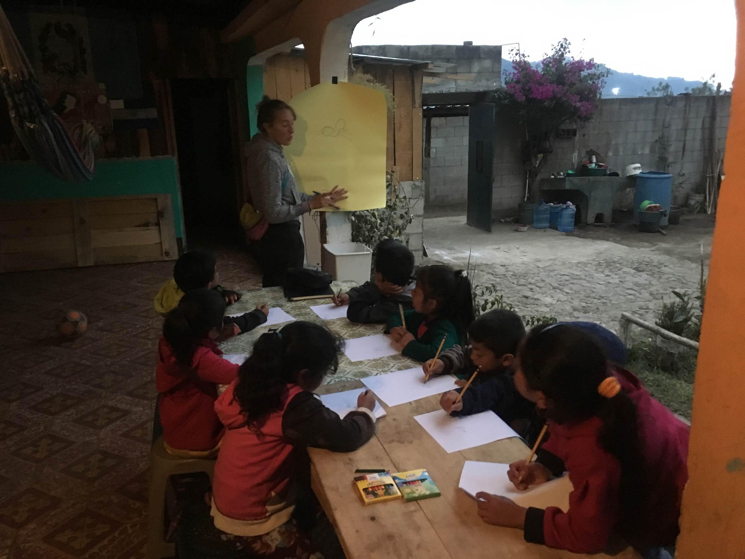 Drawing Lessons - San Jose Calderas, Guatemala