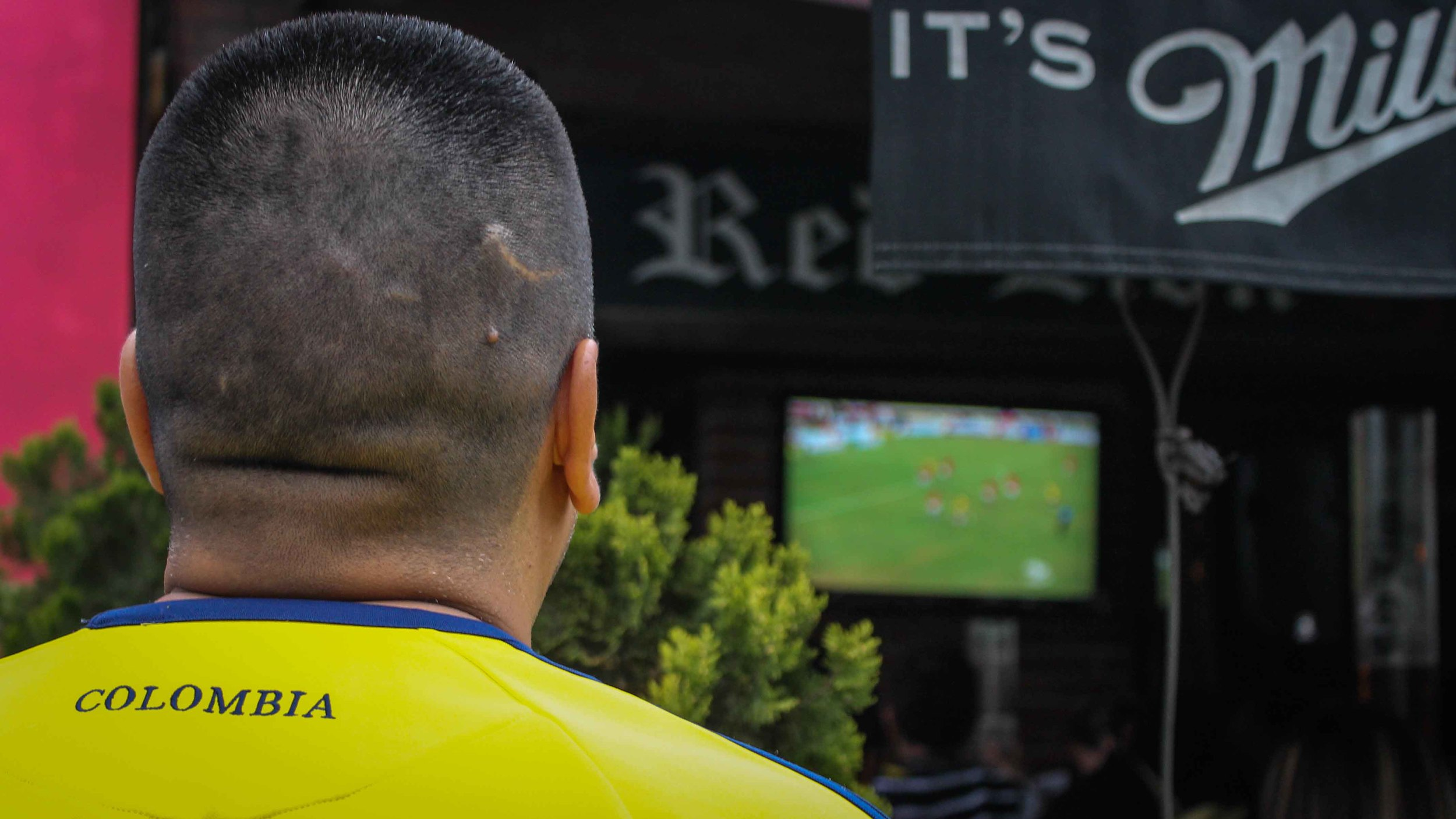 You could say, Colombians are 'scarred' spectators. Mmm, poetic.