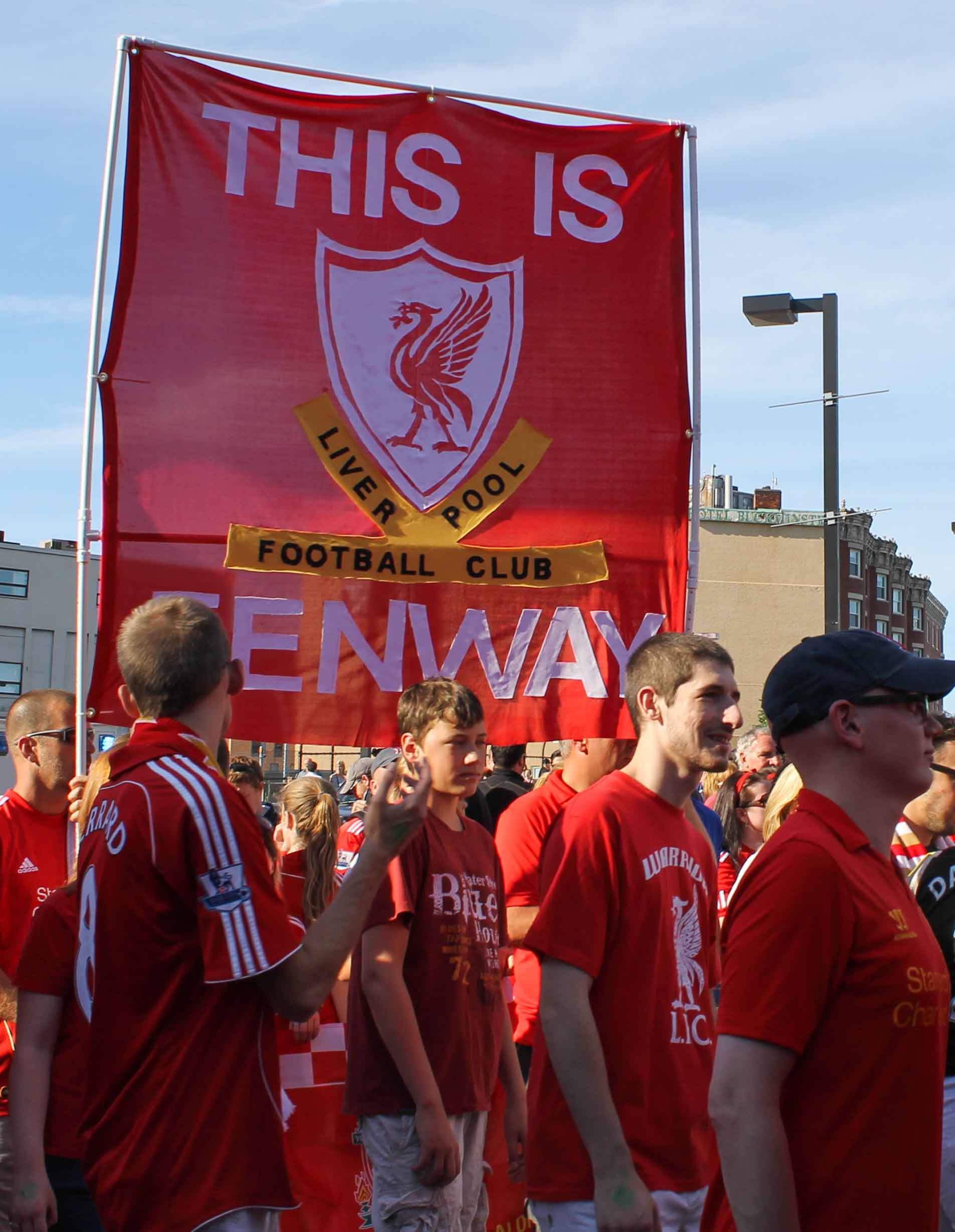 The march to the 'Fenway Kop'.