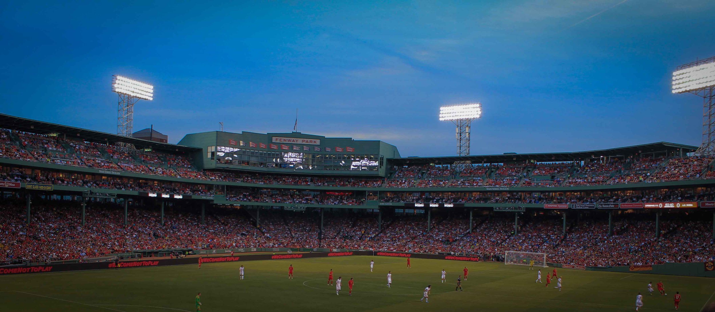 Football at Fenway. Awesome.