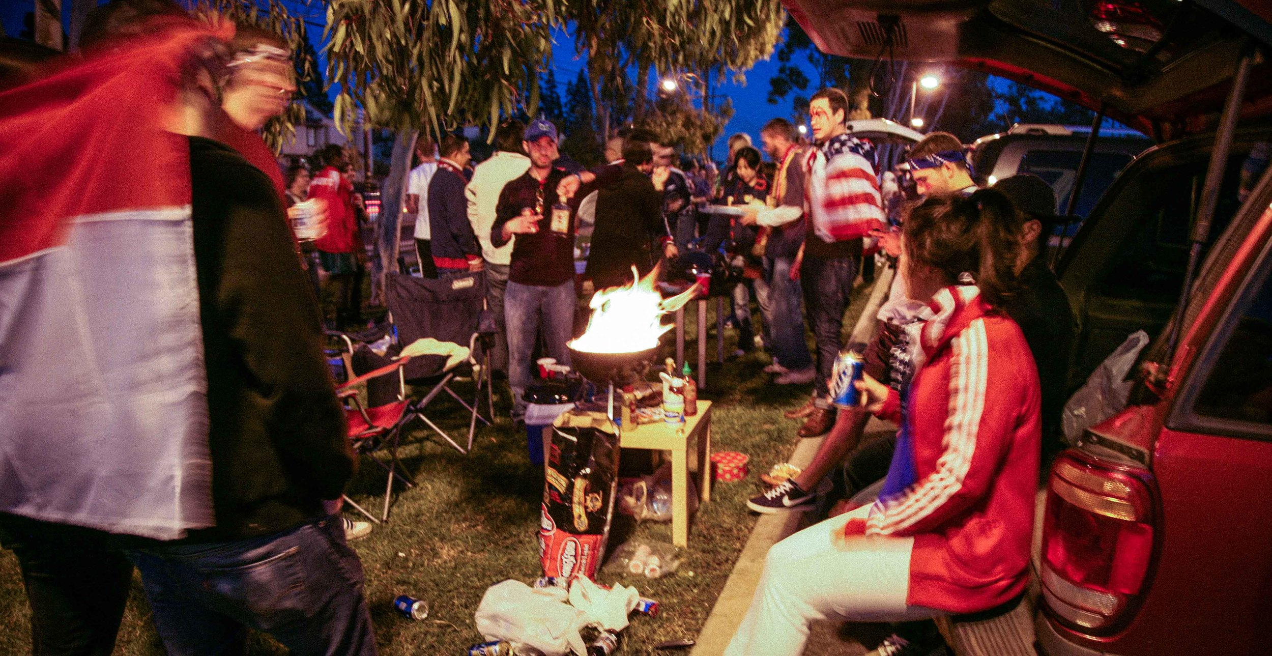 Our tailgate party on January 22, 2011 for USMNT v Chile at the Home Depot Center in Los Angeles.