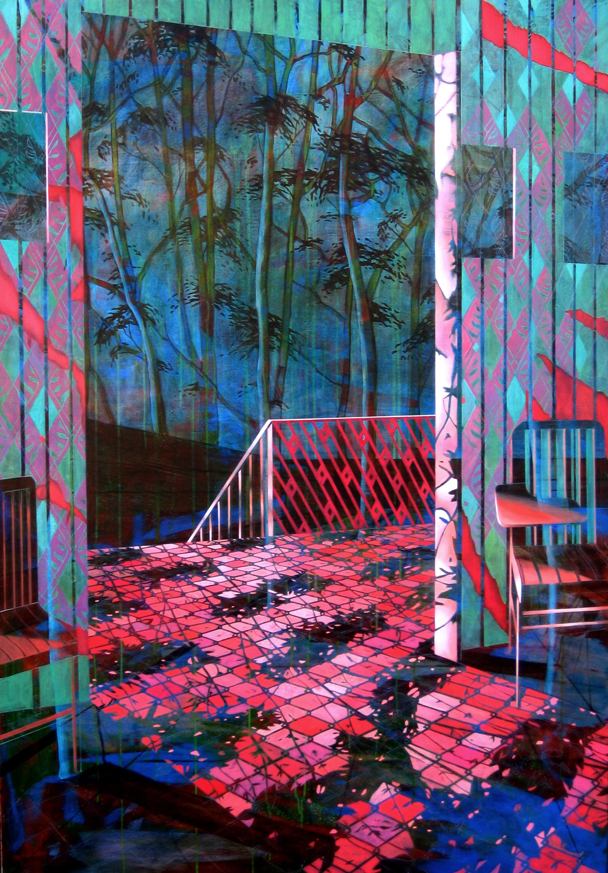  Isaac's Hallway   76 x 48  Oil On Canvas  2012